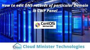 Edit DNS Records