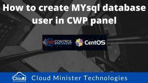 MySQL Database User