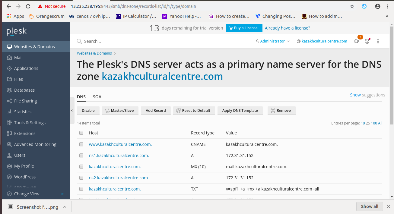Setting Up Name Servers in Plesk Panel