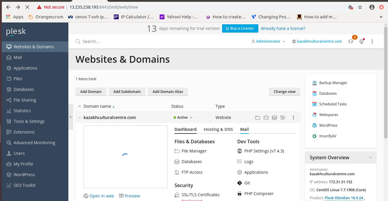 Install Free SSL Certificate in Plesk Panel
